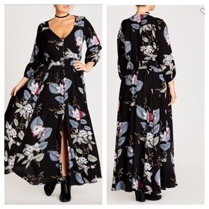 City Chic floral maxi dress size small/sz 16